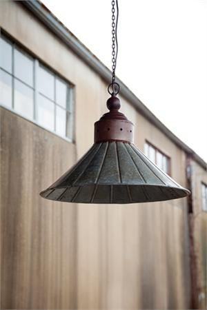 Galvanized Metal Warehouse Pendant Light