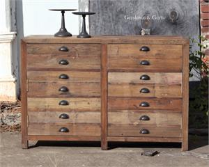 Old Pine Map Drawer Cabinet Reclaimed Wood